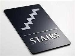 Stairs Sign - ADA Braille Sign