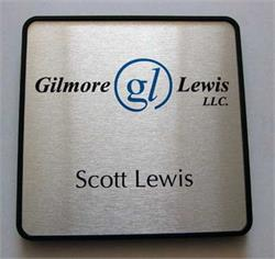 Brushed Metal Name Plate Signs