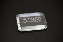 Office Crystal Paperweight