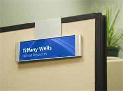 Cubicle Name Plate Signs & Workstation Signs