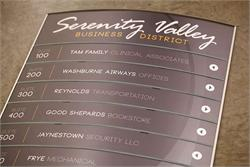 Curved Face Directory Signs and Tenant Directories
