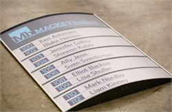 Office Sign Directory Curved