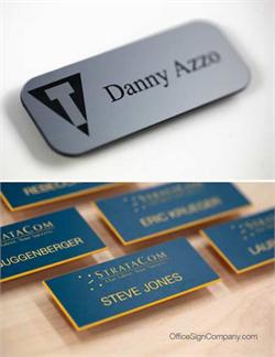 Name Badges with Engraved Names and Logos