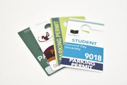 Parking Permit Hanging Tags with Full Color Personalization