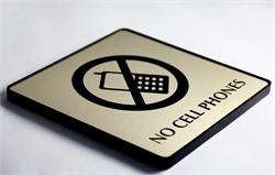 Custom No Cell Phones Office Sign