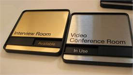 Corporate Executive Metal Signs For Conference Rooms