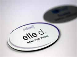 Oval Name Badges for Demanding Professionals