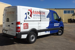 Office Sign Company does Rainbow International Vinyl Vehicle Wrap