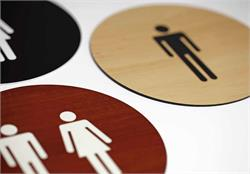 Round Restroom Signs & Office Bathroom Signs