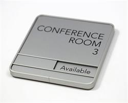 Conference Room Wall Signs with Custom Sliding Message