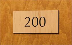 Numbered Suite Signs & Room Number Signage