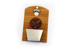 Bamboo Wall Mounted Bottle Opener