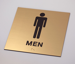 Men's Engraved Restroom Sign