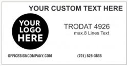 Trodat 4926 Stamp Example in Black