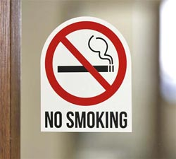 No Smoking Contour Cut Decal - Multi-Color