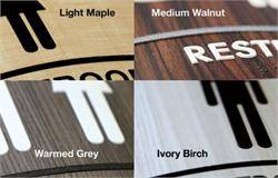 Wood Sign Colors with Curved Frames