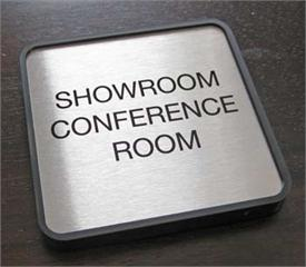 Brushed Metal Door Signs