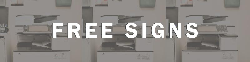 Free Signs | Free Office Sign Templates