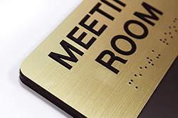 ADA Compliant Braille Room Number Sign