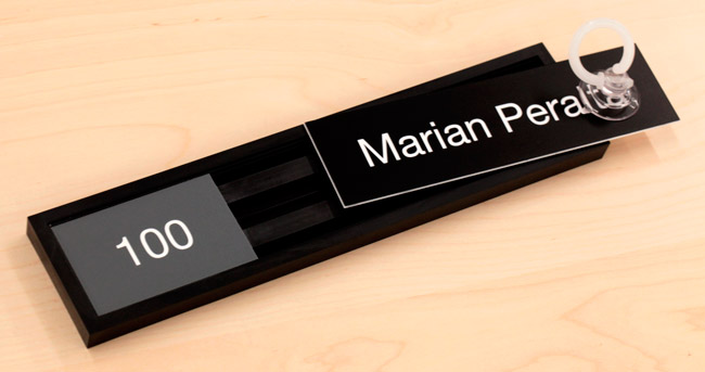 Office Name Plates: Replaceable Office Name Plates