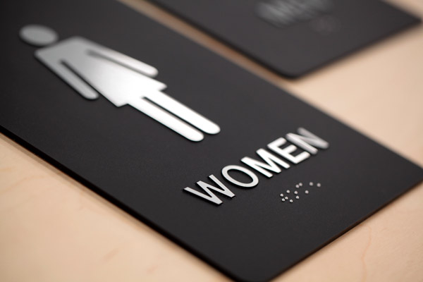 ADA Braille Womens Restroom Sign