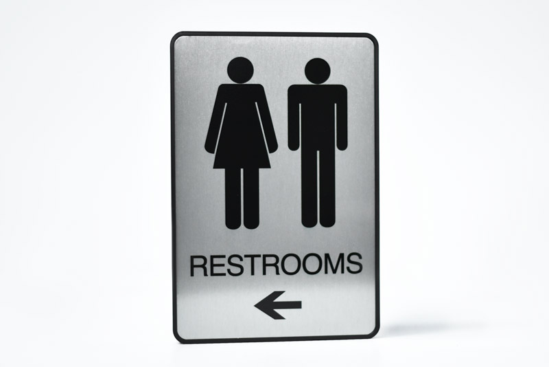 Mens Restroom Signs Womens Restroom Signs Handicapped Bathroom - Bathroom directional signs