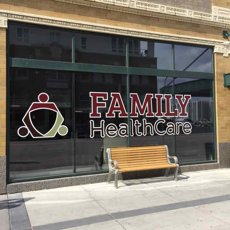 Family HealthCare Vinyl & Corporate Window Vinyl | Vinyl Door Signs | Full Color Vinyl Decals