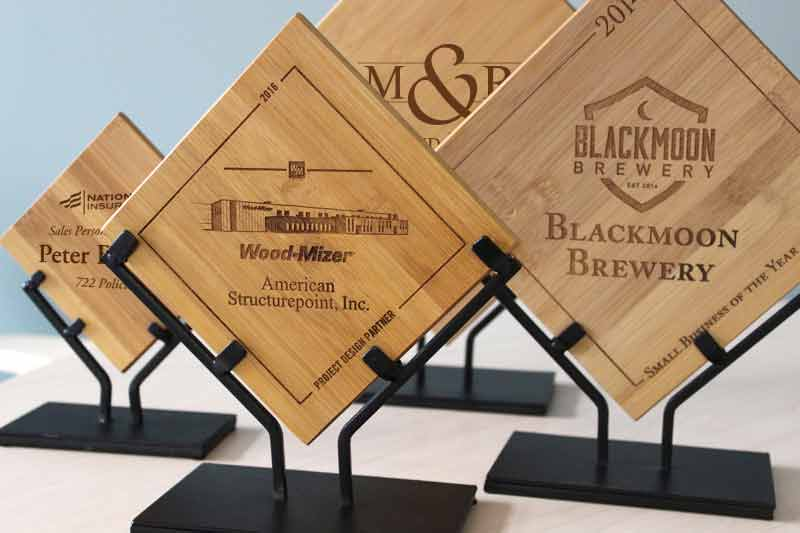 Employee Recognition Plaques Bamboo Diamond Award Plaques