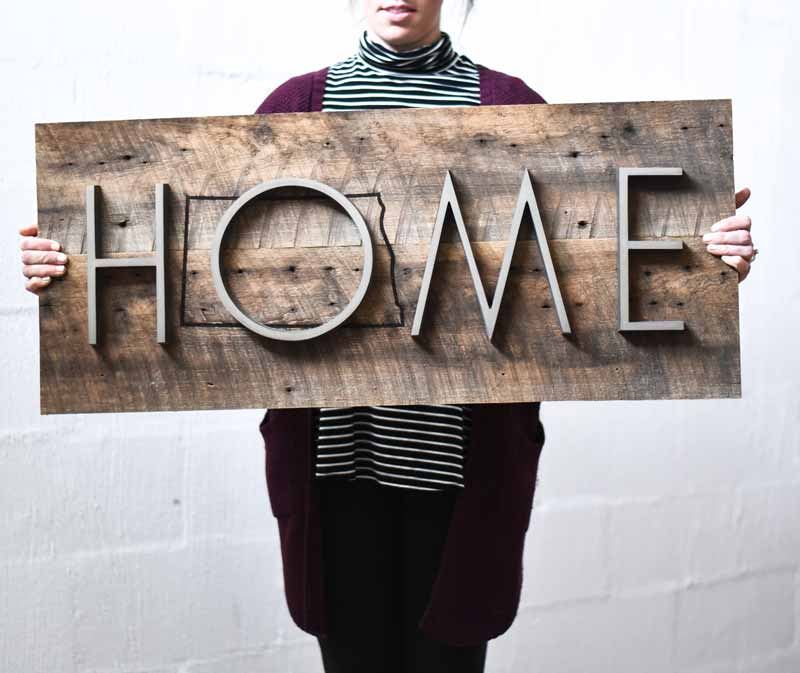Reclaimed Wood Signs: Dimensional Reclaimed Wood Sign