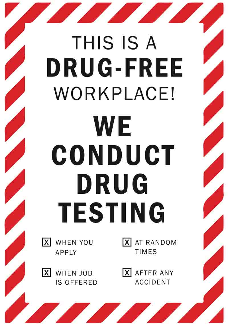 drug free workplace decals l drug free zone decals