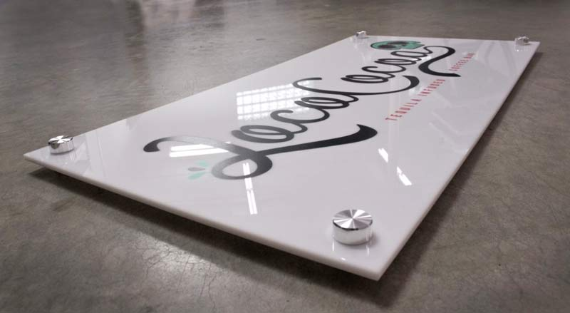 Custom Printed Sign With Stand Offs Custom Logo Office Signs