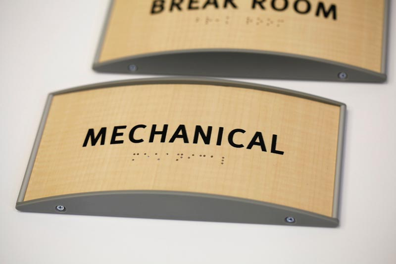 curved wood ada braille signs curved office signs interchangeable