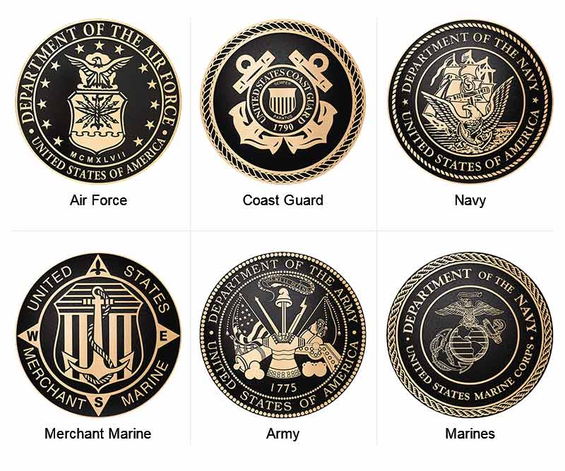 Army Plaques   Navy Emblems   Marines Wall Plaques   Cast