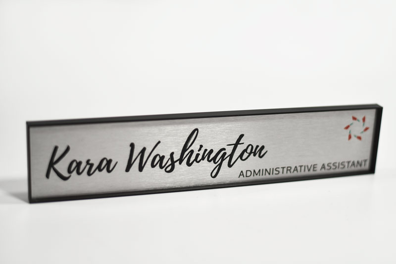 Metal Office Signs   All Metal Nameplates