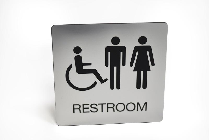 Engraved Restroom Sign