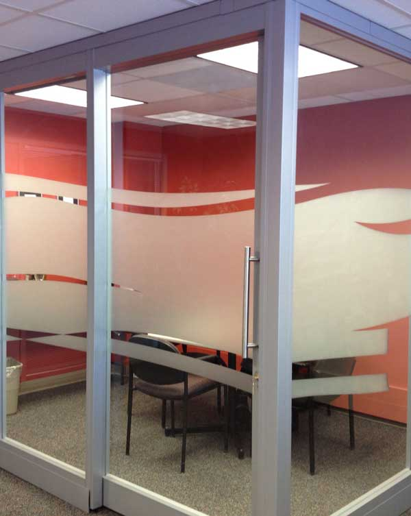 Privacy Vinyl For Glass Doors Frosted Vinyl For Conference Rooms - Frosted glass conference room table