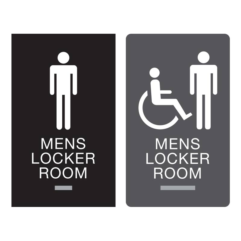 New Restroom Signs | ADA Bathroom Signs | Mens Bathroom Signs ZY86