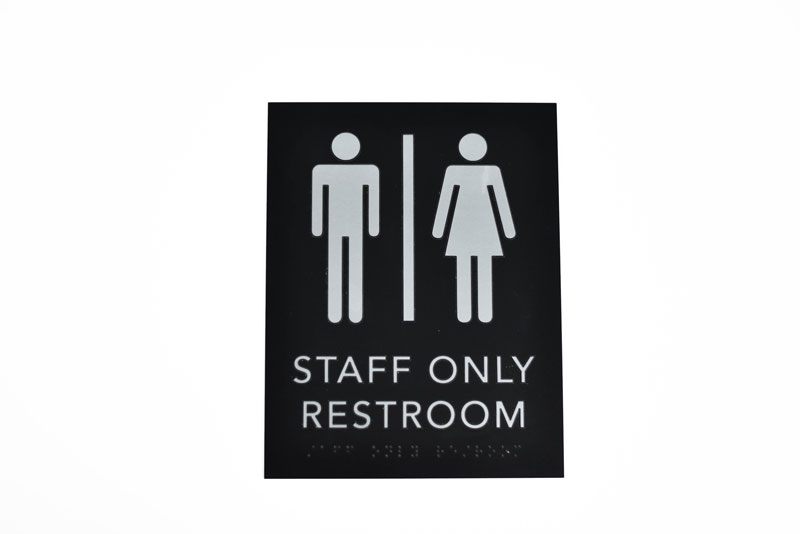ADA Braille Staff Only Restroom Signs Braille Bathroom Signs - Ada compliant bathroom signs