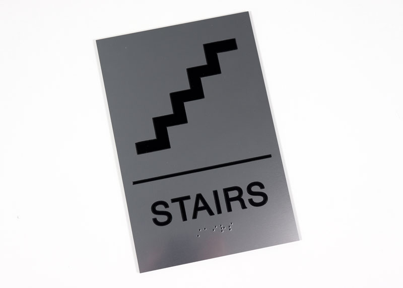 Premium ADA Stairs Signs Braille Sign