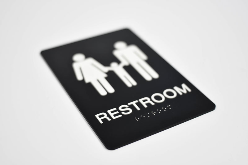 Premium ADA Family Restroom Signs | Braille Bathroom Signs