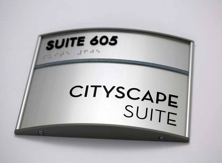 curved sign frames with free personalization curved office signs