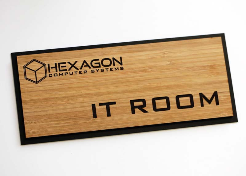 Completely new Bamboo Office Signs | Eco-Friendly Signs HQ57