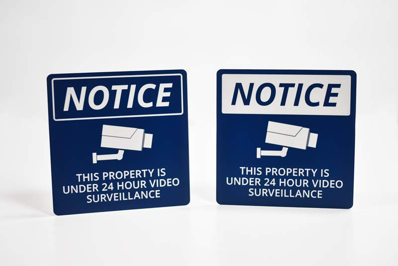 Camera on Site Sign | Surveillance Office Signs
