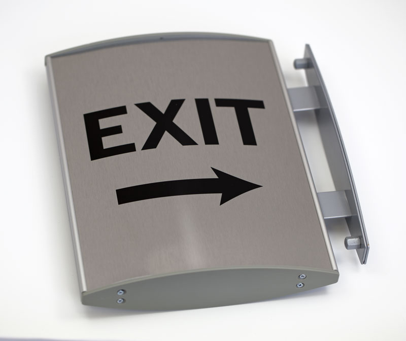 Curved Interchangeable Corridor Signs   Curved Projection Mount Signs