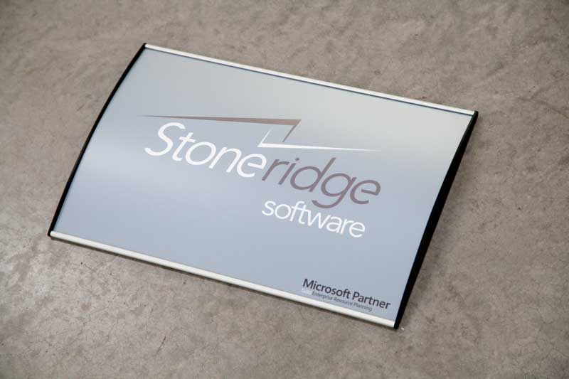 Lobby Office Sign Curved And Interchangeable