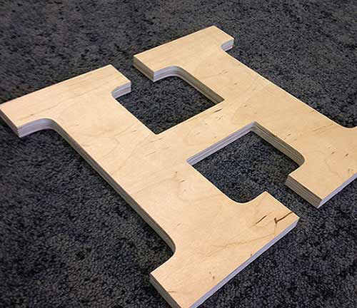 custom cut wood letters and logos