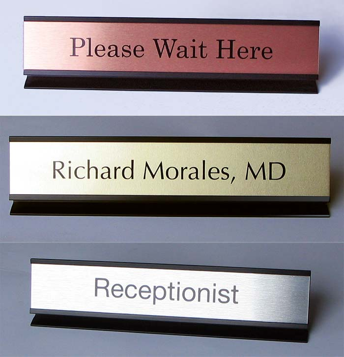 Office Desk Name Plates Metal Frame