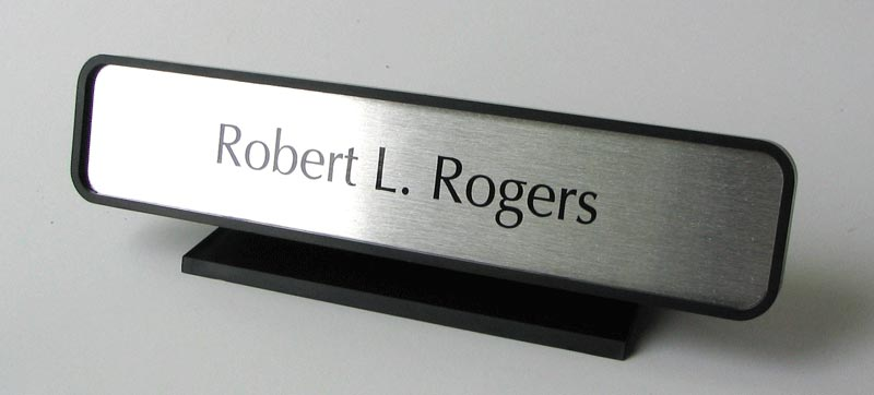 Desk Signs and Front Counter Nameplates Desk Name Plates