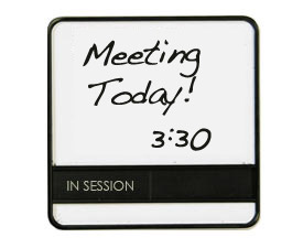 Whiteboard Conference Schedule Office Door Sign With Occupied - Conference room door signs for offices