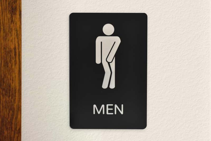 Humorous Mens Restroom Signs